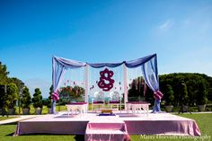 Omg Uma, check out this mandap.  Imagine this inside the tent!  Or possibly even completely outdoors?!