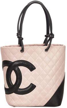 3d3837239f43 Authentic Chanel Cambon Bowler Bag White White quilted calfskin Chanel  Ligne Cambon Bowler bag black leather trim