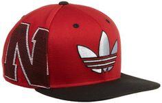 NCAA Flat Brim Snapback Hat - NG42Z, Nebraska Cornhuskers, Adjustable- red adidas. $13.93