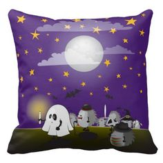 Halloween hedgehogs party gang throw pillow -- 33% off pillows with code SUNANDPILLOW (ends midnight 8.26.2015)