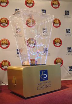 Ticket blowing prize draw barrel for Christchurch Casino. Laser etched clear acrylic with colour changing LED lighting. Brushed Gold ACM base with enclosed fan. Lockable opening front panel for price draw. Prize Draw, Casino Poker, Display Stands, Clear Acrylic, Color Change, Ticket, Barrel, Cases, Fan