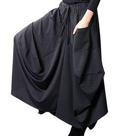 f24c967f5a AmazonSmile: YESNO E07 Women Girl Denim Skirts Lagenlook Handcraft  Embroidery Elastic Waist Drawstring: Clothing