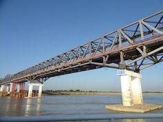 Pakokku Bridge over the Irrawaddy River, Myitkaing, Myanmar