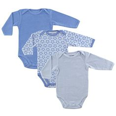 Luvable Friends Long Sleeve Thermal Bodysuit 3Pack Blue Stars 69 Months * Check out the image by visiting the link.