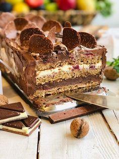 Romanian Desserts, Romanian Food, Opera Cake, Cake Recipes, Dessert Recipes, Torte Cake, Bread And Pastries, Diy Cake, Food Cakes