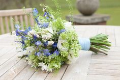 Rustic bouquet from a wedding at Goldsborough Hall. Image by Photography by Kathryn