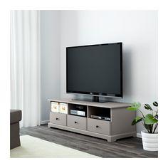 LIATORP TV bench, grey grey 145x49x45 cm