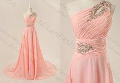 Prom Dress Blush Bridesmaid Dress FloorLength Prom by MiLanFashion, $169.00