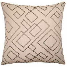 Decorative pillow with luxurious velvet in ivory color and diamons pattern.  Plump down/feather insert.  Free shipping.
