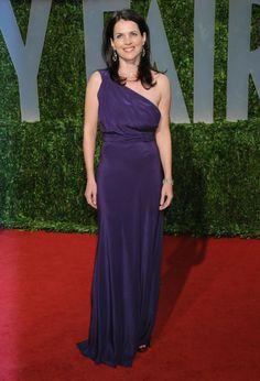 Julia Ormond @ 2009 Vanity Fair Oscar party purple dress.