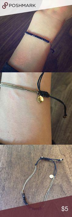 Stella and Dot sparkly navy bracelet Delicate navy bracelet by Stella and Dot Stella & Dot Jewelry Bracelets