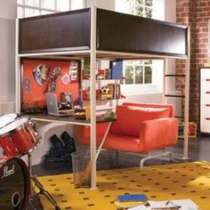 Teen Nick ''The Studio'' Loft Bed by Nickelodeon Rooms by Lea Kids