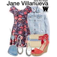 Inspired by Gina Rodriguez as Jane Villanueva on Jane the Virgin