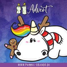Fröhliche Weihnachten Pummeleinhorn | Unicorns | Einhorn ...