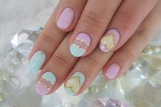 Spring Love.    Nail Art Manicure.