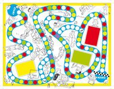 zelfgemaakte bordspellen - Google zoeken Board Game Template, Printable Board Games, Games For Kids, Games To Play, Activities For Kids, English Games, Speech Language Therapy, Diy Games, Creative Activities