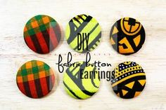 DIY Fabric Button Earrings - How to Make Ankara Fabric Earrings - Jewelry Tutorial - OSoChic.com