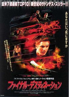 Final Destination , starring Devon Sawa, Ali Larter, Kerr Smith, Kristen Cloke. After a teenager has a terrifying vision of him and his friends dying in a plane crash, he prevents the accident only to have Death hunt them down, one by one. #Horror #Mystery