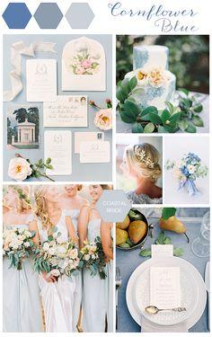 cornflower blue wedding decor details