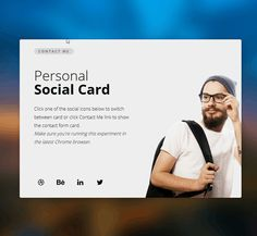 Personal Social Card, #Code, #CSS3, #Snippets, #Web #Design, #Resource, #Responsive, #Development, #HTML5, #jQuery, #Javascript, #HTML, #CSS, #Transition, #SCSS