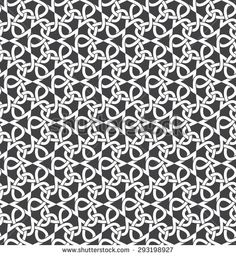 Seamless pattern of intersecting infinities with swatch for filling. Celtic chain mail. Fashion geometric background for web or printing design.
