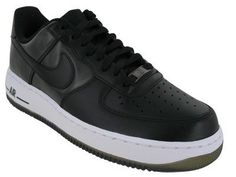 :Nike Air Force 1 Low Black Camo Mens Basketball Shoes Black/Black 488298-007-9.5