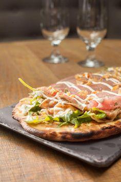 Tuna Carpaccio Pizza, Isola at the Mondrian SoHo
