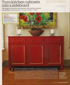 Sideboard from kitchen cabinets 1 of 3