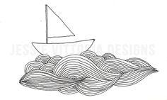 InkSailboatOnWaves