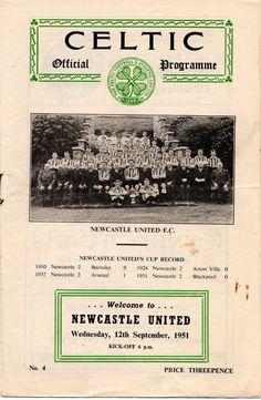 1951 Celtic v Newcastle (Friendly)   eBay