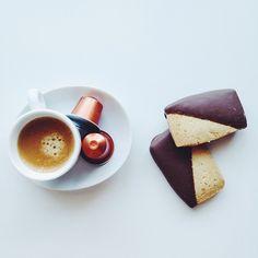 Nespresso Espresso and Chocolate covered Macadamia Cookies