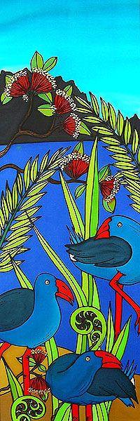 Bird Doodle, Doodle Art, Abstract Canvas, Canvas Art, Bird Nest Craft, New Zealand Art, Nz Art, Bird Embroidery