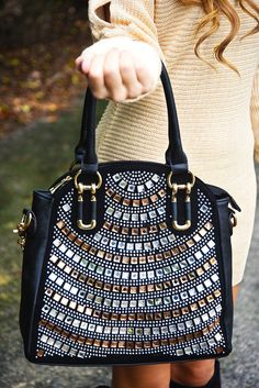 4783dcd186c9 Sparkling Personality Purse  Black Bronze