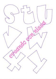 Letras Abcd, Love Coloring Pages, Lolo, Bubble Letters, Creative Lettering, Foam Crafts, Artsy Fartsy, Stencils, Alphabet