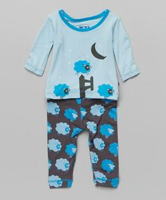 Another great find on #zulily! Stone Sheep Pajama Set - Infant & Toddler by KicKee Pants #zulilyfinds
