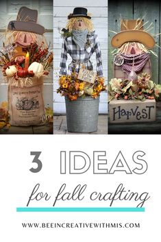 Fall Scarecrow Craft Patterns for your home décor! These patterns are so fun and easy to make! Patterns come with a color photo, complete instructions and full size template pattern pieces. Make A Scarecrow, Scarecrow Crafts, Fall Scarecrows, Dyi Crafts, Fall Crafts, Crafts To Make, Country Fall Decor, Thanksgiving Diy, Fall Fest