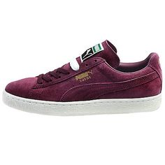 Puma Suede Classic + Mens 356568-64 Italian Plum Athletic Shoes Sneakers Sz 8.5