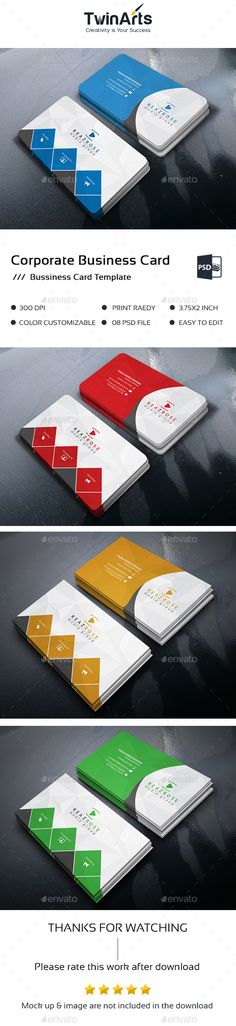 Corporate Business Card - Business Cards Print Templates Download here : https://graphicriver.net/item/corporate-business-card/19328690?s_rank=152&ref=Al-fatih