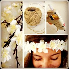 DIY flower headbands