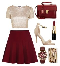 """""""Sin título #36"""" by danielatrer on Polyvore featuring moda, Topshop, Yves Saint Laurent, Bobbi Brown Cosmetics y Marc by Marc Jacobs"""