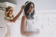 Wedding Planner @alessiabweddings make- up artist @giuliamakeup i  Image by  Sara Lincoln Photography - Rime Arodaky gown for a Tuscany wedding with a white and grey colour scheme and bridesmaid dresses from ASOS.
