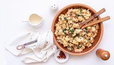 Krémový toskánský květák s kuřecím masem - Recept na nejen Paleo snadno Lucca, Risotto, Paleo, Grains, Low Carb, Rice, Ethnic Recipes, Food, Whole30