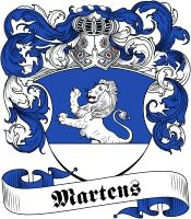 Martens  family crest / coat of arms from www.4crests.com  #coatofarms…