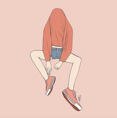 Witty, relatable and inspiring illustrations by Rebecca Flattley Art Triste, Anime Triste, Art Anime Fille, Anime Art Girl, Art Vintage, Vintage Art Prints, Art Et Illustration, Character Illustration, Pretty Art