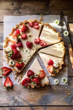 No Fuss Lemon Tart. This No Fuss Lemon Tart is that go-to dessert…super easy, yet delicious and pretty too. Top with berries and it's perfect for both spring and summer! Half Baked Harvest, Just Desserts, Baking Desserts, Lemon Desserts, No Bake Desserts, Summer Recipes, Easy Summer Desserts, Easy Summer Meals, Healthy Summer