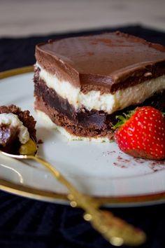 Espresso-Torte mit super schokoladigem Brownie und cremiger Moussefüllung