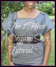One Hour Origami Shirt Tutorial (Video)