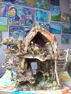 Casa de la pequeña hada en la casa de maderas por Sunflowerhouse