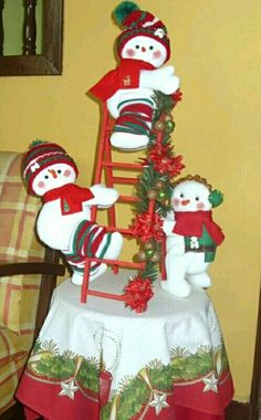 *** Homemade Christmas Decorations, Xmas Decorations, Holiday Crafts, Holiday Decor, Christmas Snowman, Christmas Tree Ornaments, Teacup Crafts, Snowman Crafts, Diy And Crafts