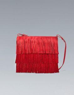 FRINGED CLUTCH - Clutch bags - Handbags - Woman - ZARA Spain